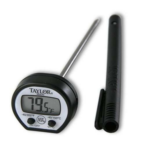58°F to 302°F Taylor 9840 Classic Instant Read Digital Pocket Thermometer