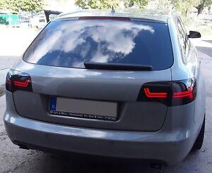 LED Lightbar Rückleuchten Audi A6 4F Avant 2004-2011 schwarz links rechts Satz