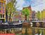 Jigsaw-Puzzle-De-Qualite-500-pieces-Amsterdam-scene-Colore-Traditionnel-Boxed miniature 1