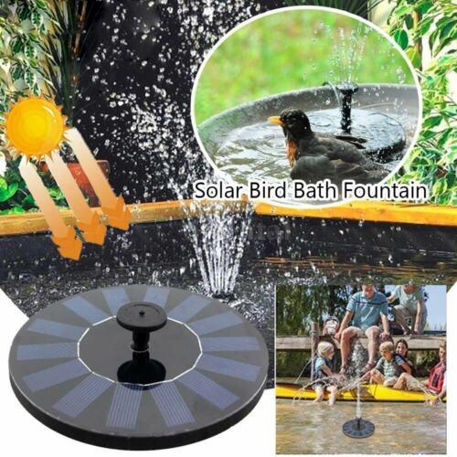 Bird Bath Solar Panel Power Water Feature Pump Floating Pool Aquarium Fountain