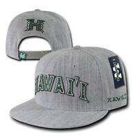 Heather Gray University Of Hawaii Rainbow Warriors Snapback Baseball Cap Hat