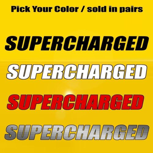 Supercharged Hood /& Side Fender Decal Fits Ford Mustang GT Challenger Hellcat