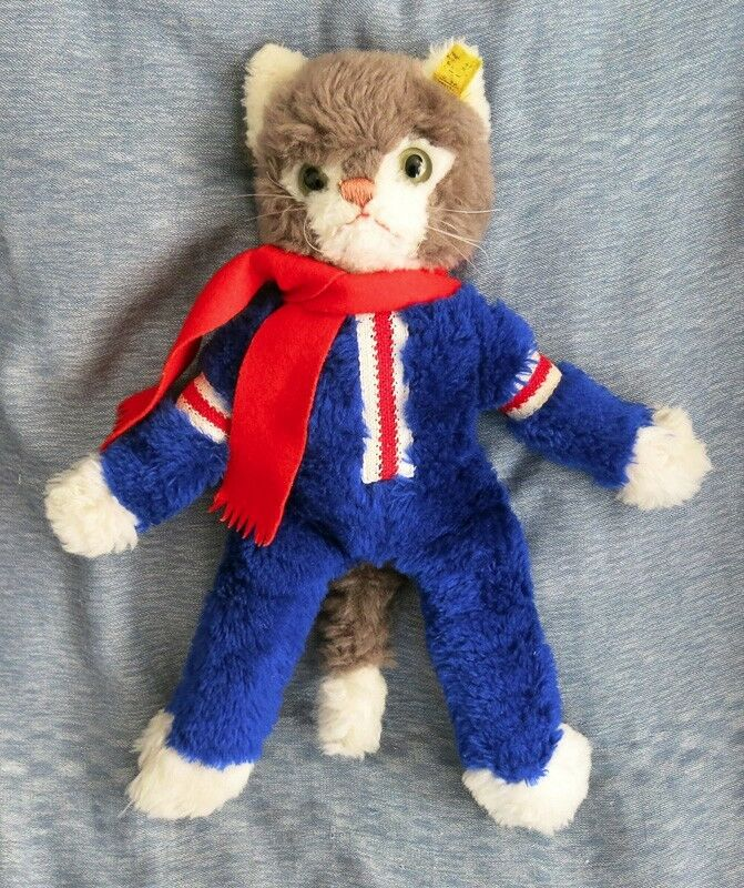 Vintage STEIFF Dangling Cat special sport edition 1972. EXTREMELY RARE