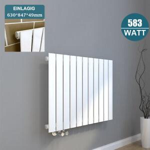 630x847mm flach heizk rper badheizk rper horizontal heizung seitenanschluss wei ebay. Black Bedroom Furniture Sets. Home Design Ideas