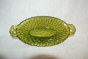 Old-Vintage-Honeycomb-Green-by-Indiana-Glass-Pickle-Dish-Scalloped-Edge-8-1-2-034