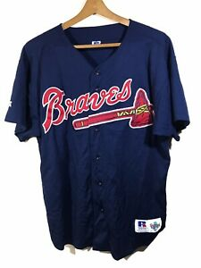 sports shoes 476fd 44b8a Details about Vintage Russell Athletic Atlanta Braves Jersey Mens size 48  Diamond Collection