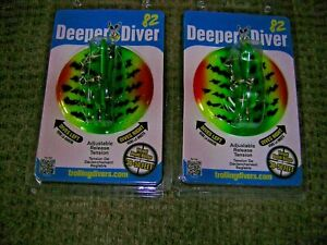 2 NEW TWO DREAMWEAVER Trolling DEEPER DIVER-Assorted Colors-Free USA Ship!!!
