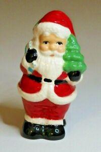 Pie Bird Santa With His Bag and Tree Piebird USA Made