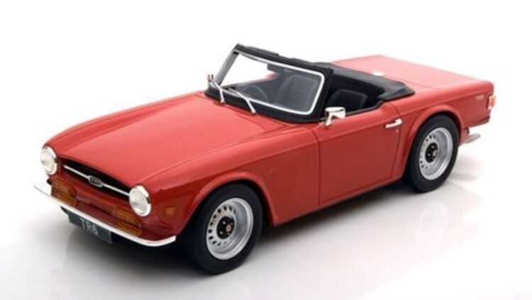 TRIUMPH tr6 ROADSTER ROSSO rosso 1968 – 1976 resin LS collectibes NEW Highend 1 18