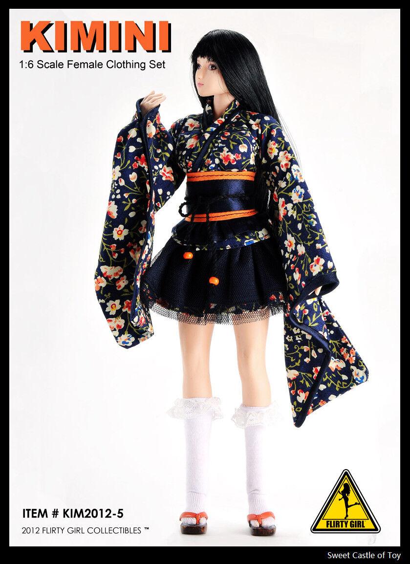 1 6 Flirty Girl Action Figure Accessory Set - Kimini Japanese Female Uniform Set
