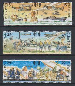 Ile-de-Man-1990-Bataille-De-La-Ensemble-MNH-Sg-449-54