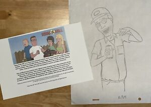 King of the Hill DALE GRIBBLE Original Art Animation Production w/ COA from FOX
