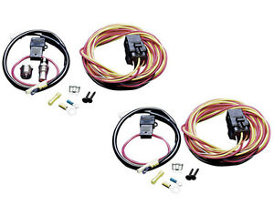 dual electric fan spal wiring relay harness kit 185fh frh ... spal wiring harness spal usa wiring harness with relay but without thermoswitch