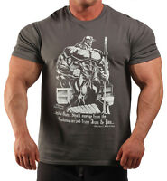 Charcoal Grey Book Of Pain Bodybuilding T-shirt Workout Gym Clothing (j-98)