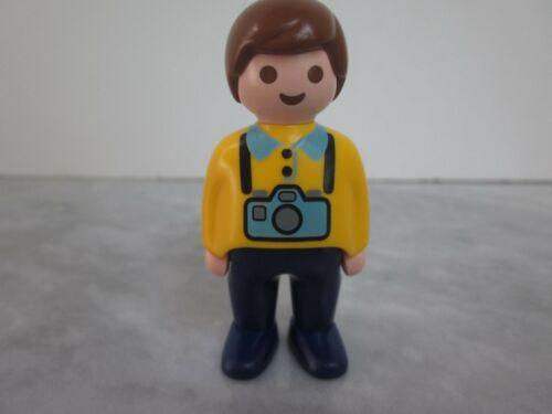Playmobil Figure 123 Man with Camera Tourist Vacation Photographer