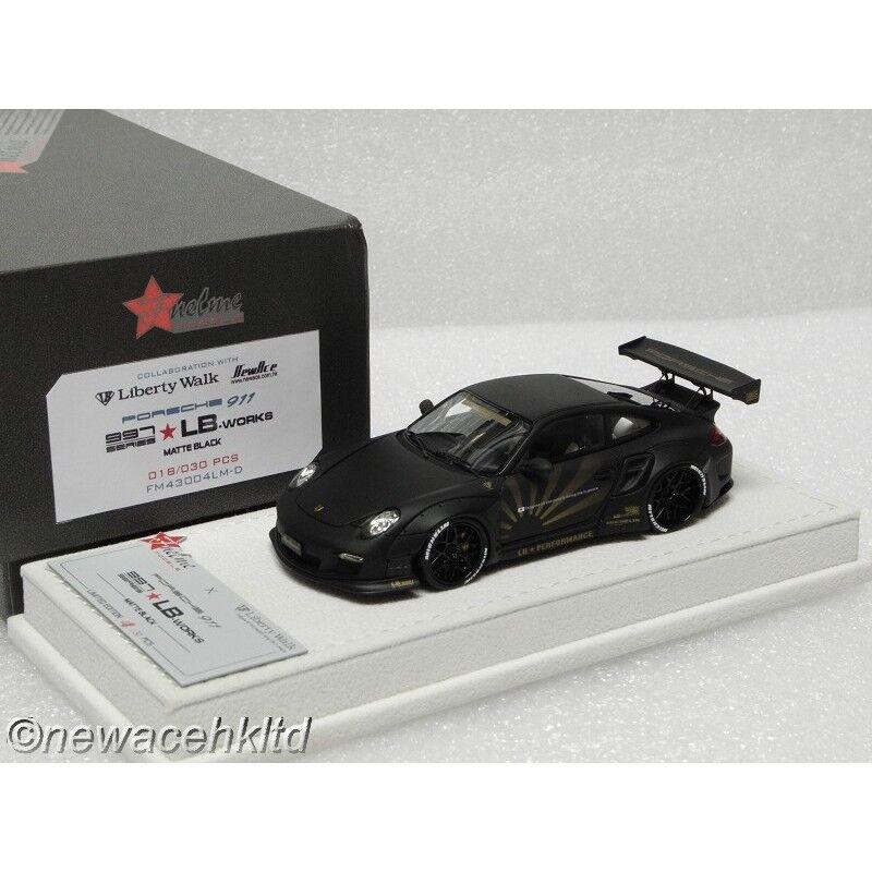 Lb rendimiento Porsche 911 (997) lb funciona Matt nero fuelme 1 43  FM43004LM-D