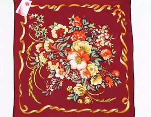 Foulard-femme-en-soie-100-65x65-authentique-PAVLOVO-POSSAD-RUSSIE-female-scarf