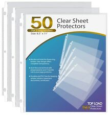 New Listingsheet Protectors 85 X 11 Clear Page For 3 Ring Binder Plastic Sleeves 50 Pack