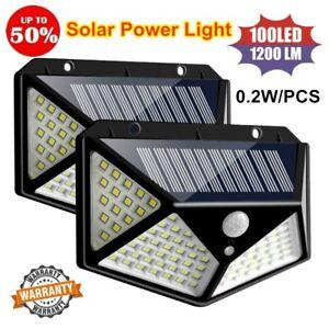 100LED-Solar-Power-PIR-Motion-Sensor-Wall-Light-Outdoor-Garden-Lamp-Waterproof-amp