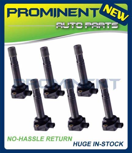 UF624 C1665 5C1722 6 Pack Ignition Coils For 10-14 ACURA 3.7L 09-14 HONDA 3.5L