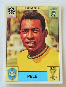 PANINI Soccer Sticker Card #38 PELÉ Team Brasil MEXICO 70 World Cup Story 1990