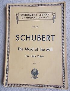 Details about Schubert Maid of Mill Song Cycle High Voice Piano English  German