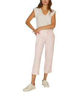 Sanctuary Clothing Womens Patch Pocket Casual Cropped Pants, Pink, 24