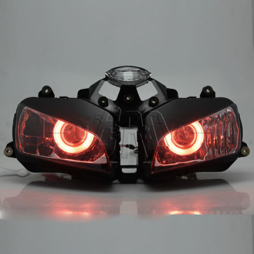 Motorcycle Red Angel Eye HID Projector Aseembly Headlight For Honda CBR600 03-06