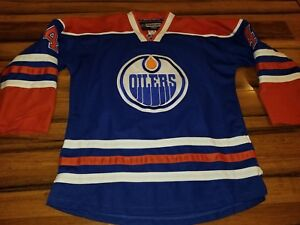 ea4a6058c Men s Reebok NHL Edmonton Oilers Taylor Hall  4 Home Hockey Jersey ...