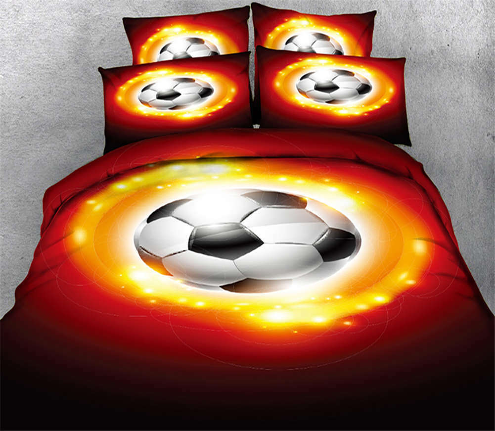 Energetic Football 3D Printing Duvet Quilt Doona Covers Pillow Case Bedding Sets