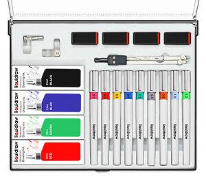 Liquidraw Technical Drawing Pen Set of 9 College Set