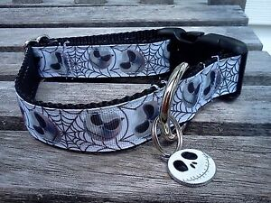 Nightmare Before Christmas Dog Collar, Halloween Dog Collar, Skull ...