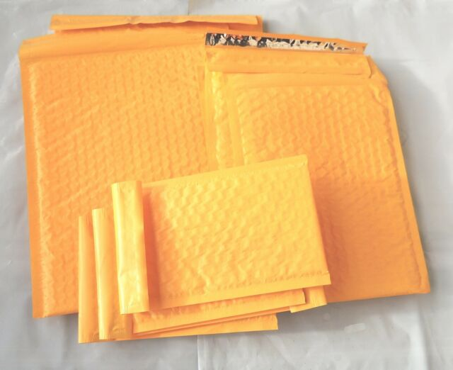 30 Assorted Sizes 8.5x12, 6x9, and 4x8 Orange Poly Bubble Mailers 10 of Each