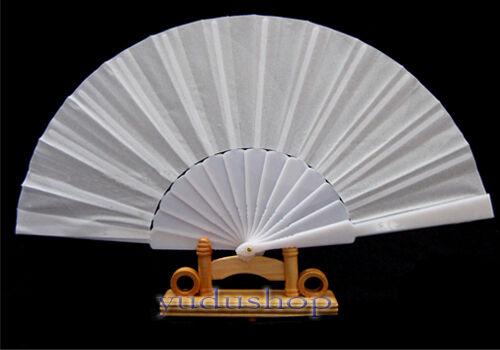 Handfächer Fächer transparent Kunststoffstreben weiss