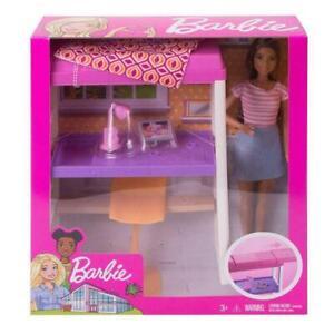 Mattel-Puppe-Barbie-Deluxe-Set-Mobel-Loft-Bed-OVP