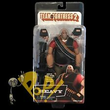 "TEAM FORTRESS 2 Red HEAVY 7"" Action Figure with In-Game Code NECA Sealed!"