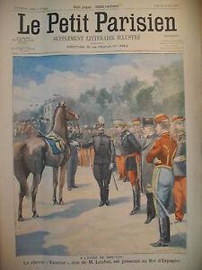 ECOLE-SAINT-CYR-CHEVAL-VAUTOUR-DON-ROI-D-039-ESPAGNE-JOURNAL-LE-PETIT-PARISIEN-1905