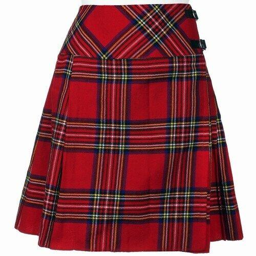 "Royal Stewart Femmes Longueur Genou Kilt Jupe Longueur 20/"" tartan plissée kilt"