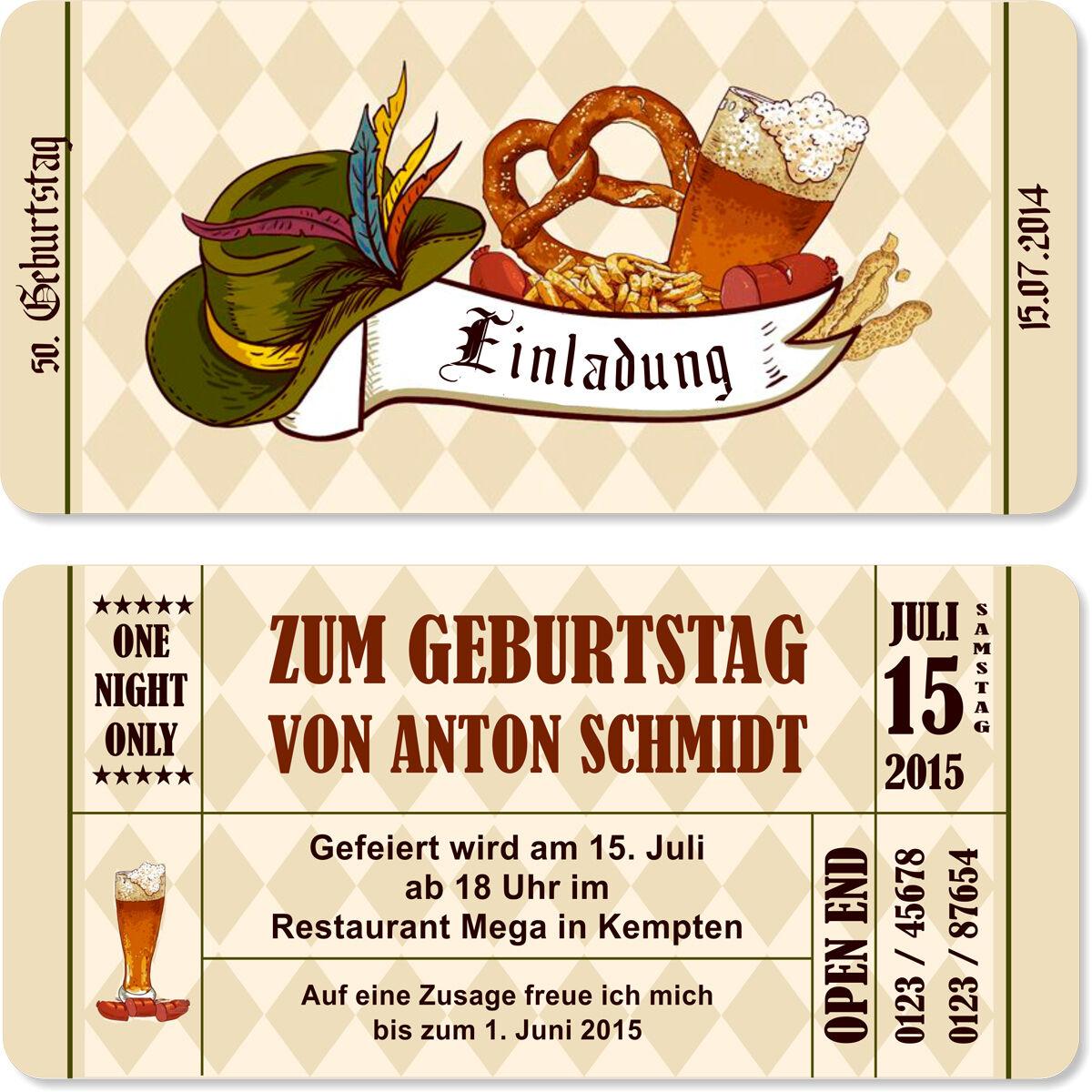 Einladungskarten zum Geburtstag bayrisch Oktoberfest Einladung Bayern Karten | Smart  | Ausgezeichnetes Handwerk