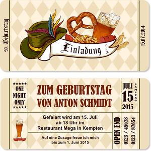 Das Bild Wird Geladen Einladungskarten Zum Geburtstag Bayrisch Oktoberfest  Einladung Bayern Karten