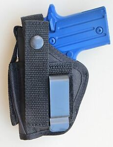OWB GUN HOLSTER WITH MAGAZINE POUCH FOR COLT MUSTANG .380