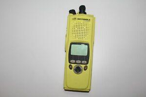 MOTOROLA XTS5000 II VHF digital portable handheld radio model H18KEH9PW6AN yello