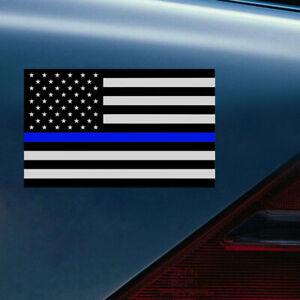 1x-12-5-7-5cm-Blue-Lives-Matter-USA-American-Thin-Line-Flag-Car-Stickers-Decor