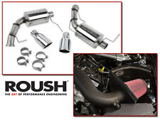 2011-2014 Mustang V6 3.7 Roush Cold Air Intake Kit & Axle Back Muffler Exhaust