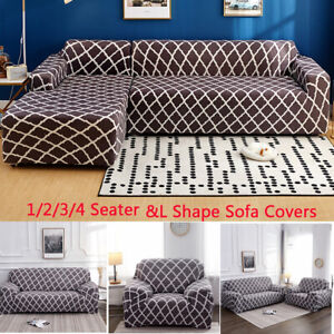 Admirable Details About 1 2 3 4 Seater Sofa Slipcover Stretch Couch Covers Sectional L Shape Sofa Covers Creativecarmelina Interior Chair Design Creativecarmelinacom