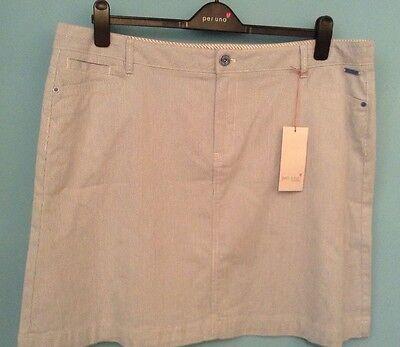 Ladies M/&S Per Una Sizes 8-22 Jean Style Mini Skirt Blue Bnwt 20L