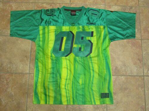 VTG FUBU Football Jersey Sz XL Green/Yellow 05 OG