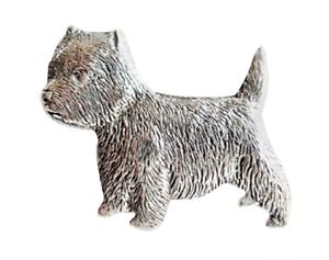 West Highland White Terrier Westie Zinn Anstecker Handgemacht IN Cornwall