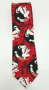FSU-Florida-State-University-Seminoles-Mens-Silk-Neck-Tie-58-Inches-4-034-Wide