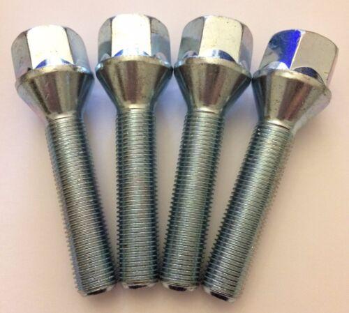 4 X M12X1.25 75mm LONG 50mm THREAD EXTENDED SPACER BOLTS FITS CITROEN 2 65.1